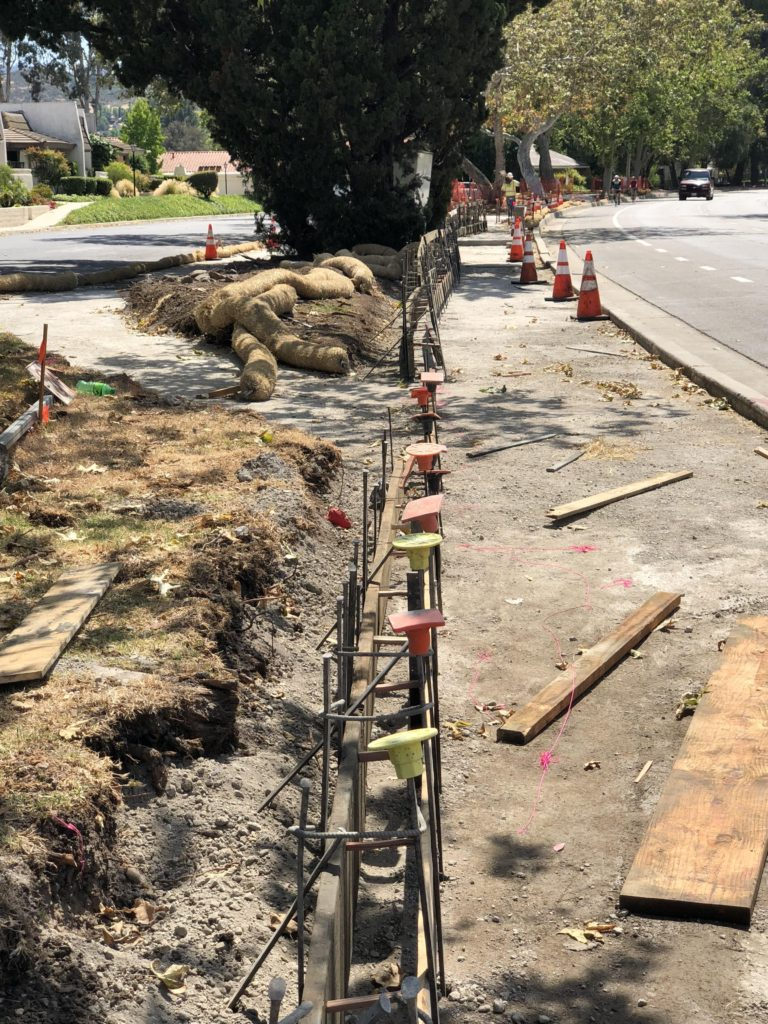 Westlake Blvd Sidewalk Project Construction