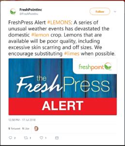 Freshpoint lemons limes alert