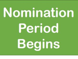Candidate Nomination Period Begins