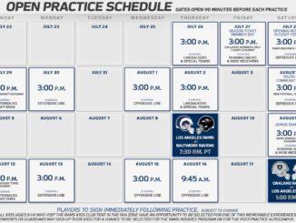 LA Rams Training Schedule