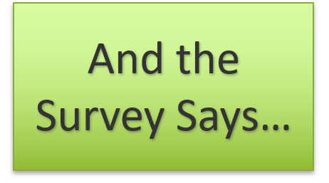 And the Survey Says