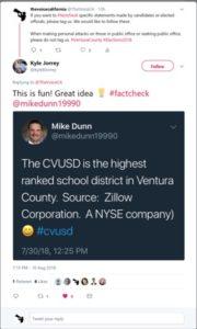 Kyle B Jorrey Tweet #FactCheck Mike Dunn CVUSD