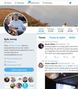 Twitter Profile Kyle B Jorrey