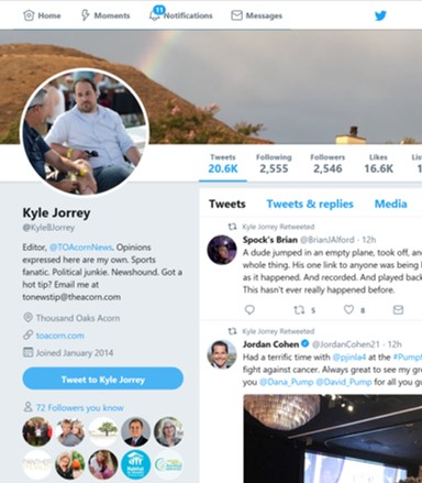 T O  Acorn's Kyle Jorrey dropped by on Twitter to let us know he