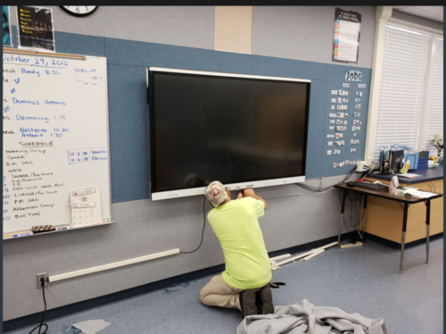 Smart Monitors Installed at Carl Dwire School in Oxnard