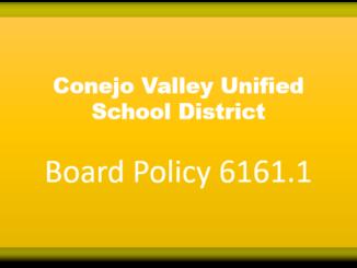 conejo valley unified school district cvusg policy 6161.1